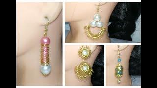 4 DIY earrings making at home