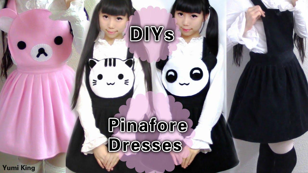 8c22736200 4 DIY Pinafore Dresses  DY Neko Atsume Dress + Panda Dress + Rilakkuma  Dresses - YouTube