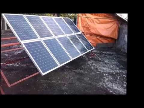 Homemade Solar Panel Rack Solar Tracker Philippines Youtube