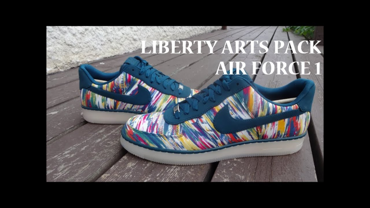 56e1fcb05 Nike Air Force 1 Downtown Liberty Arts Pack - Detailed Review - YouTube