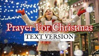 Prayer For Christmas (Text Version - No Sound)