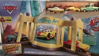 Matts playtime toys reviews. Disney Cars Romones color change body art.  Radiator Springs