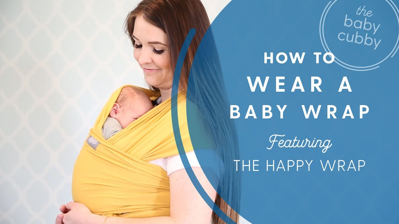 4e04d694e0b How to Wear a Baby Wrap- Featuring the Happy Wrap - YouTube