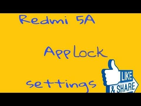 Redmi 5a App Lock  Settings
