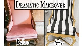 How to Reupholster a Chair - Glam Chair Makeover