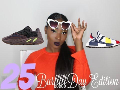 e1879945d9e74 Birrrrrrrffday Edition   25th BDAY UNBOXING YEEZY BOOST 700 + BBC X Pharrell  Human Race Sneakers