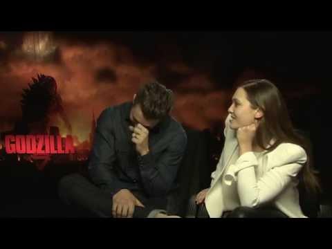 Godzilla - Interview with Aaron Taylor-Johnson & Elizabeth Olsen - ROCKKLASSIKER