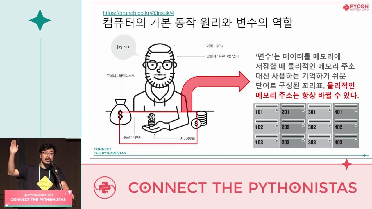Image from 파이썬의 변수 (강한 타입, Immutable vs Mutable, Class vs Instance) - 조인석 - PyCon.KR 2019