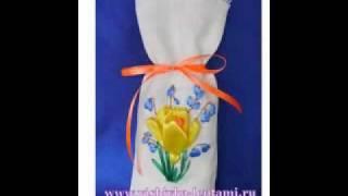 мастер-класс по вышивке лентами-крокус www.vishivka-lentami.ru