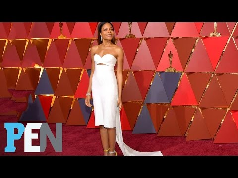 Moonlight's Naomie Harris Takes Oscars Red Carpet Risk With Short Dress | PEN | People