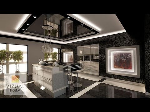 exclusive sink and cabinets in ultramodern kitchen | The interior exclusive kitchen furniture, modern high ...