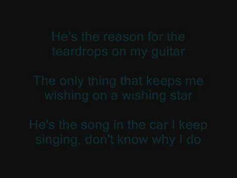 Taylor Swift - Tear Drops On My Guitar Lyrics