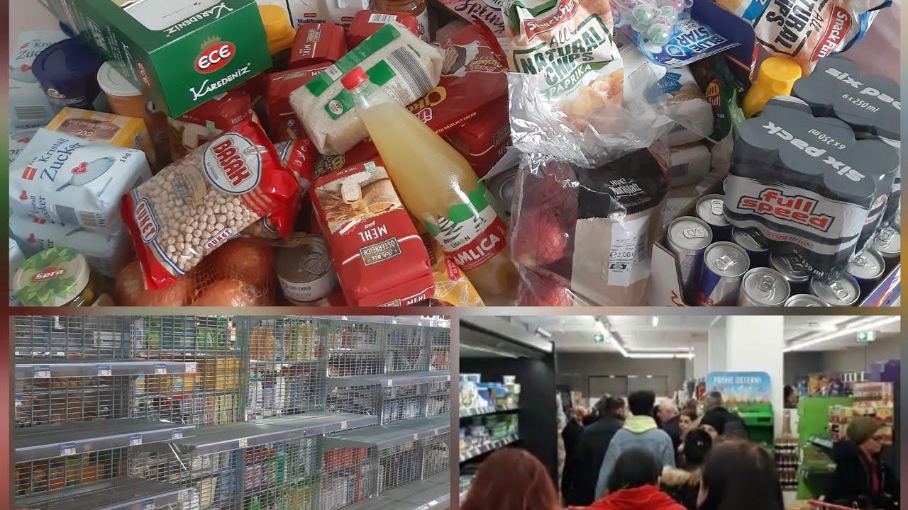 CORONA VİRÜS Alışverişi ‼ Avusturya'da Market Rafları Bomboş - Stok Yapıyorum ? COVİD-19 SHOPPI