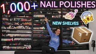 MY NEW NAIL POLISH SHELVES! (did the polishes survive the move?)