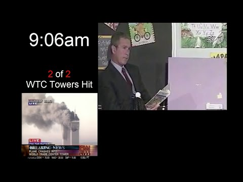 Bush's reaction to 9/11 (Full Classroom Footage)