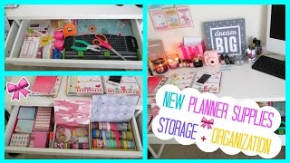 NEW Planner Supplies Storage + Organization! | 2015