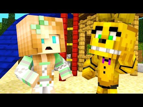 Minecraft School - FNAF Sister Location - GIRL FIGHT?!