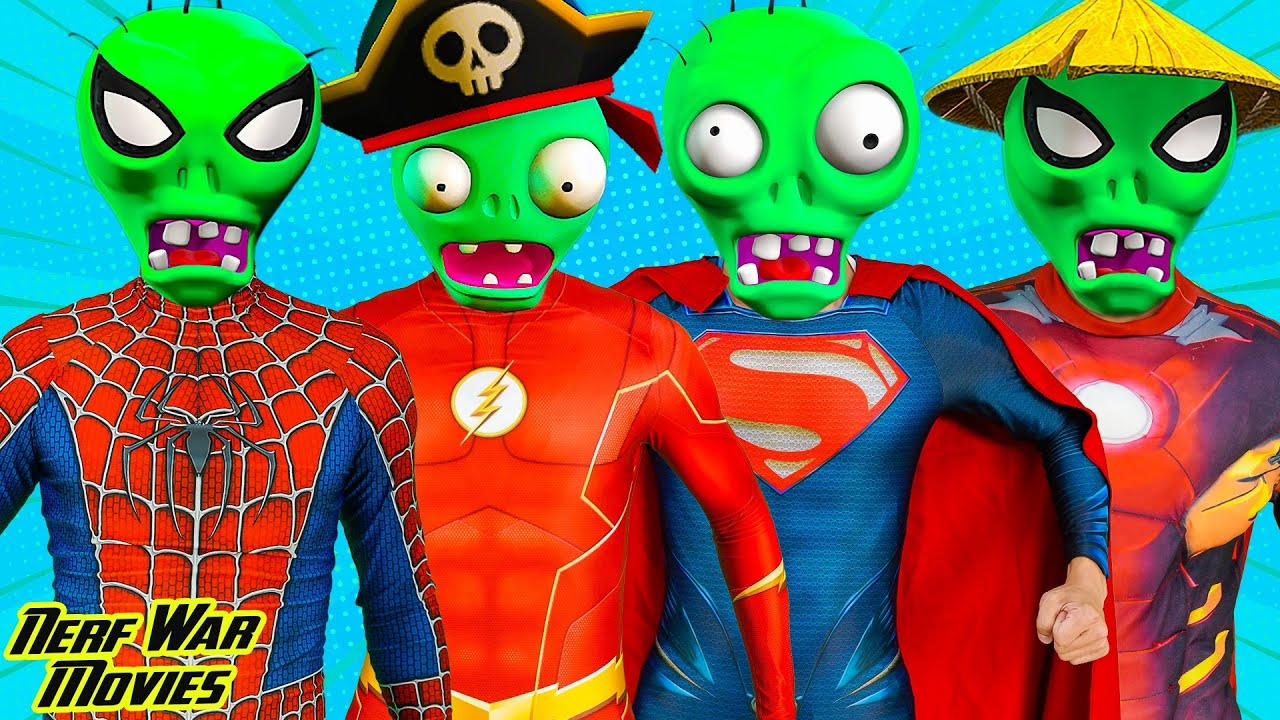 Nerf War Movies: Spiderman X Warriors Nerf Guns Fight Criminal Group  Army Zombie Attack