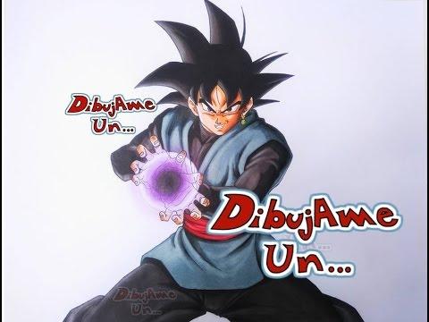 Como Dibujar A Goku Blackblack How To Draw Black Goku Dragon