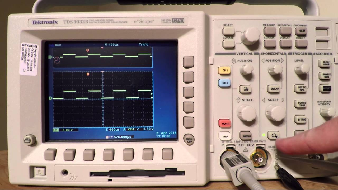 tektronix tds3032b 085 youtube rh youtube com Tektronix Manuals PDF Tektronix Analog Oscilloscope