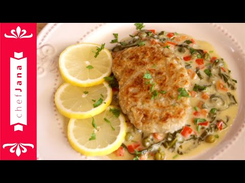 4 INGREDIENTS FISHLESS FISH FILETS WITH FLORENTINE SAUCE⎜FISH FLORENTINE⎜GLUTEN-FREE
