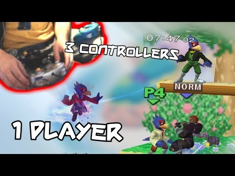 ONE player THREE controllers