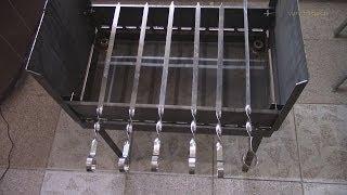Мангал чемодан, складной мангал.(Хороший мангал для выездов на природу, занимает мало места. Куплен http://vk.com/mangalks , http://vk.com/kazanmangal , хорошее..., 2014-07-03T20:39:43.000Z)