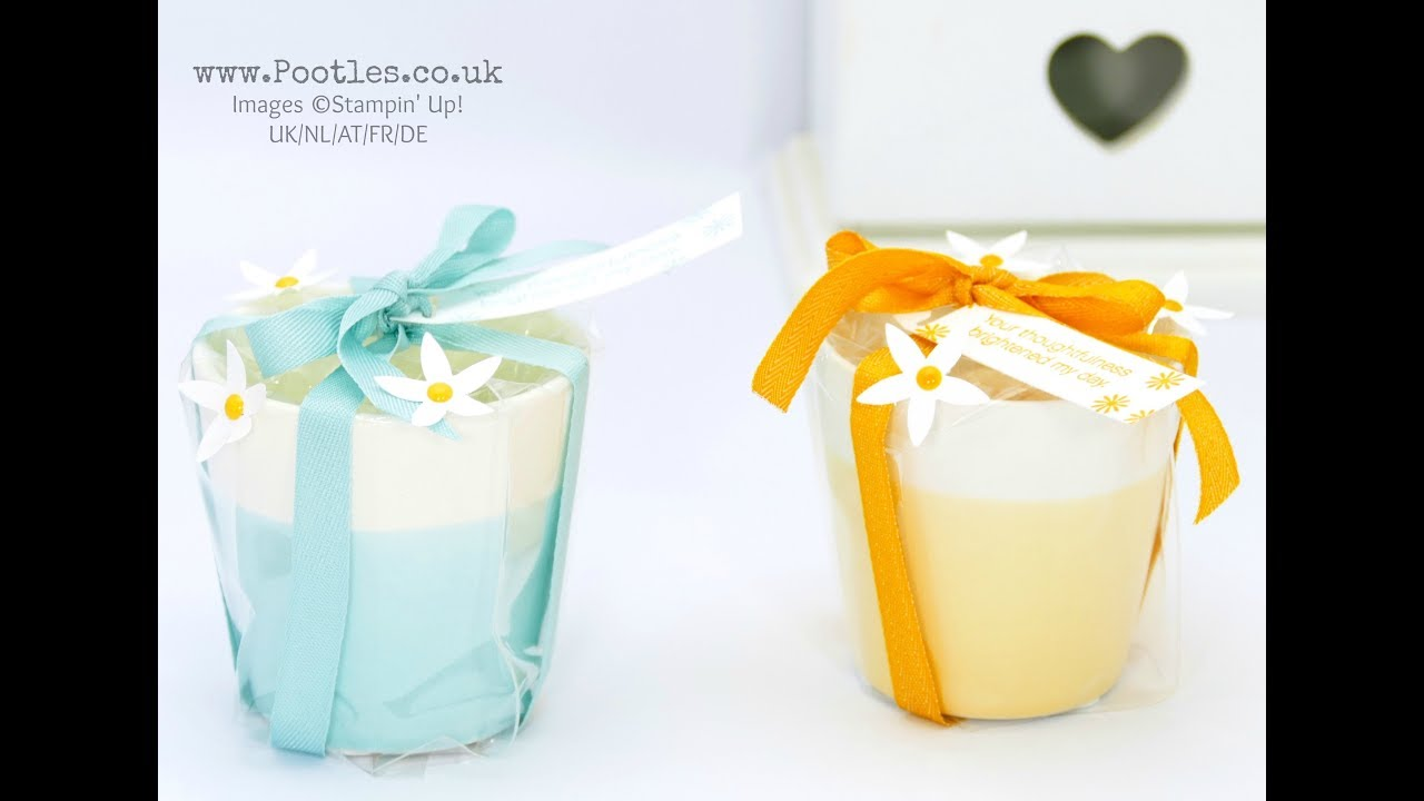 Yankee Candle \'Pastel Hues\' Votive Holder Gift Idea using Stampin ...
