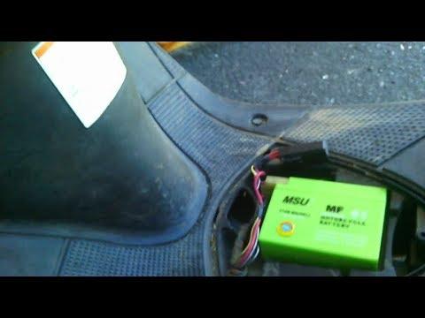 do not start a scooter suzuki lets 2 new. repair, battery