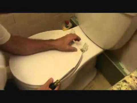 how to fix a loose toilet seat on ollie