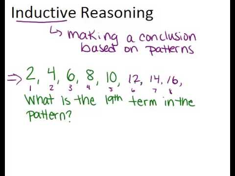 Inductive Reasoning Lesson Geometry Concepts Youtube