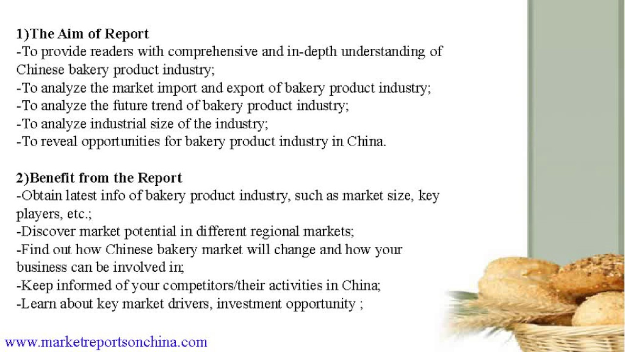 Market Of Bakery Product In China