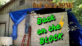 Finishing up the back Block shop wall / Jackhammering the old floor \ Car trouble