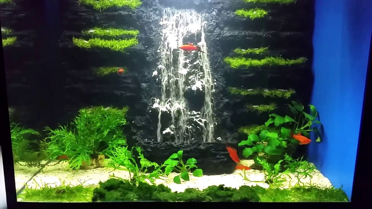 Aquarium sand waterfall 33 youtube for Waterfall fish tank