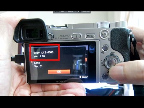 Sony A6000 - How to update sony camera firmware