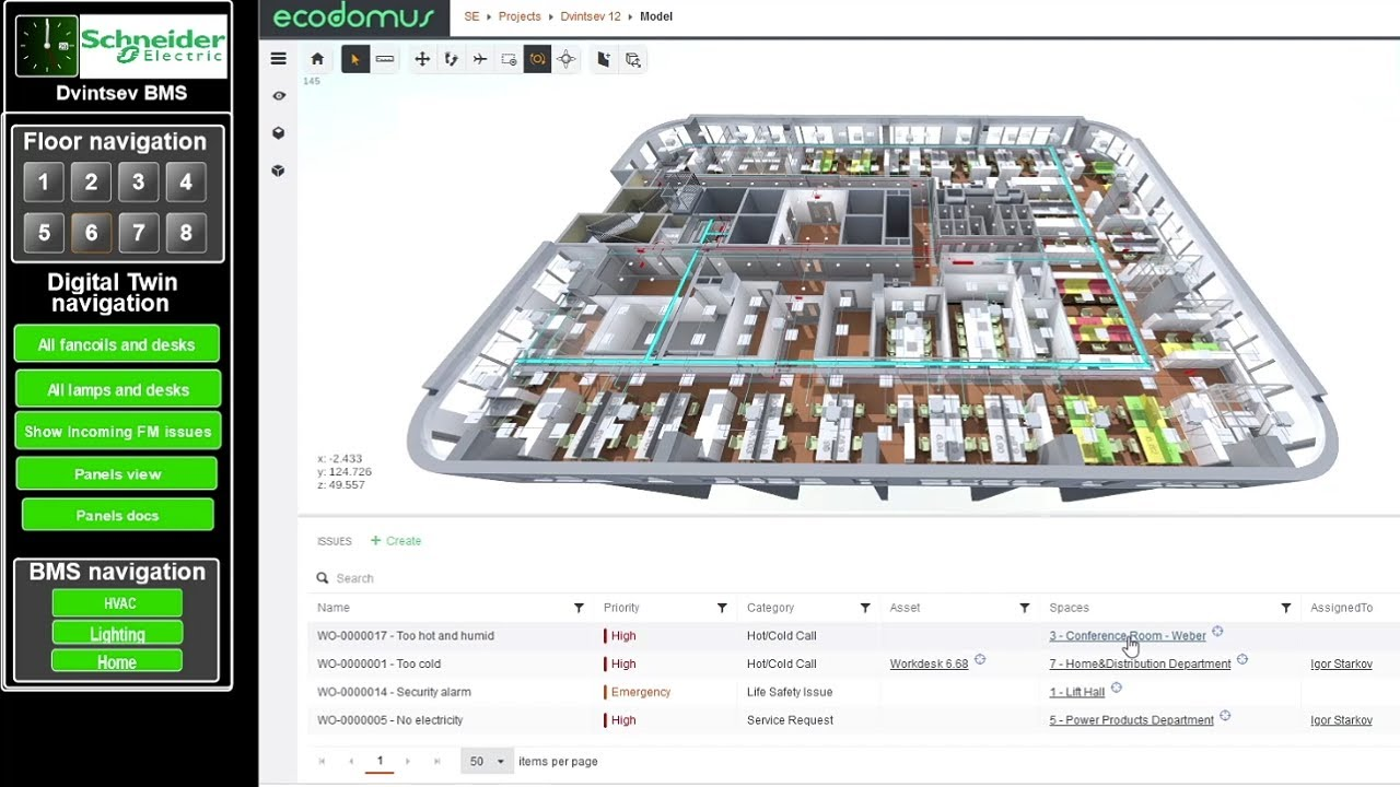 Schneider Electric and EcoDomus Partner on Digital Twins