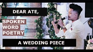 A MESSAGE TO MY SISTER'S WEDDING / Spoken Word Poetry by Martin Naling