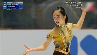 フィギュアスケート】2018全日本Jr FS 本田望結「アイーダ」【本田望結】