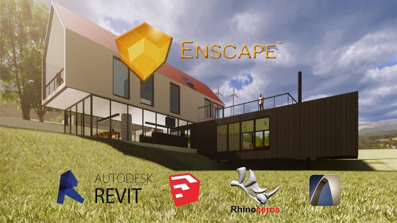 Descargar e instalar Enscape 3d (Revit, Sketchup, Rhinoceros, Archicad)
