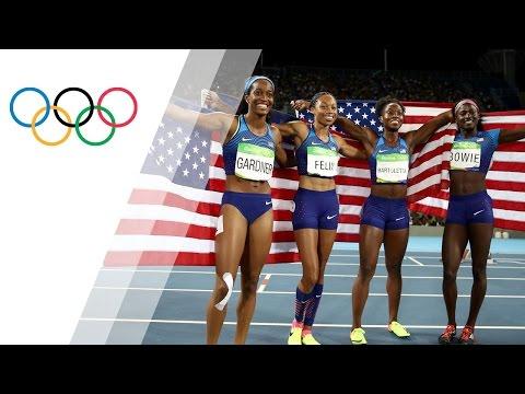 USA Women's 4x100m Relay Wins Gold