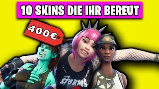 10 Fortnite Skins that everyone regrets NOT having bought | Top 10 Shop English German German