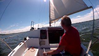 Sailing in Randers Fjord. Denmark 2014.