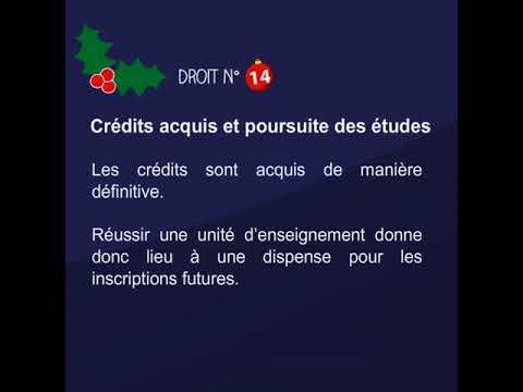 Tes droits et obligations en examens pour la session de Noël - 14