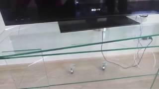 БЦ стол. Стеклянная тумба под телевизор ''Балу''