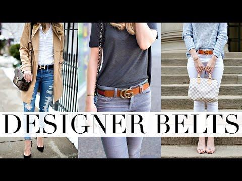 BEST DESIGNER BELTS | GUCCI, LOUIS VUITTON & HERMES BELT REVIEW | Shea Whitney