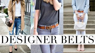 BEST DESIGNER BELTS | GUCCI, LOUIS VUITTON & HERMES BELT REVIEW | Shea Whitney
