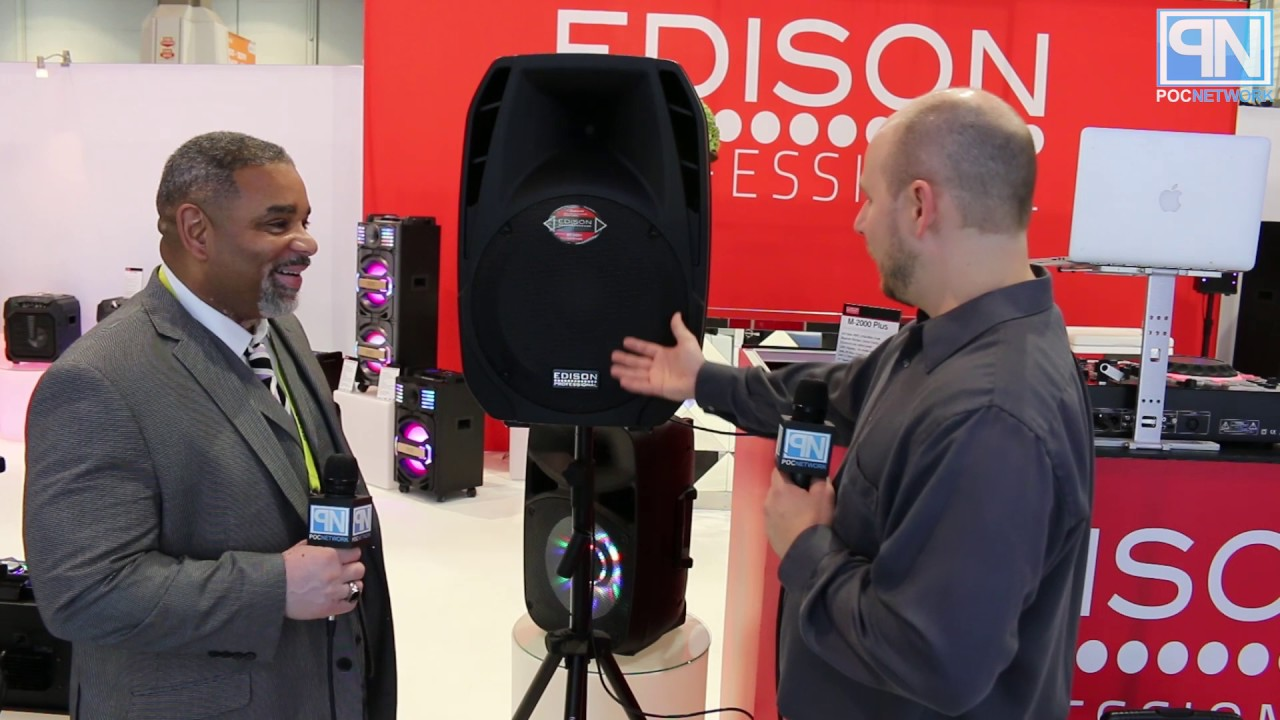 Edison Professional - M-2000 Plus Powered PA Speaker - CES 2017 - Poc  Network