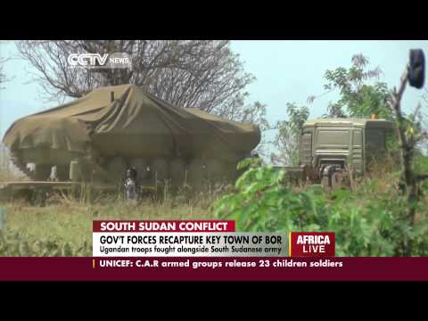 government forces recapture key town of bor in south sudan