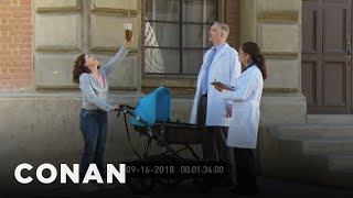 Test Footage Of IBM's Coffee Delivery Drones  - CONAN on TBS