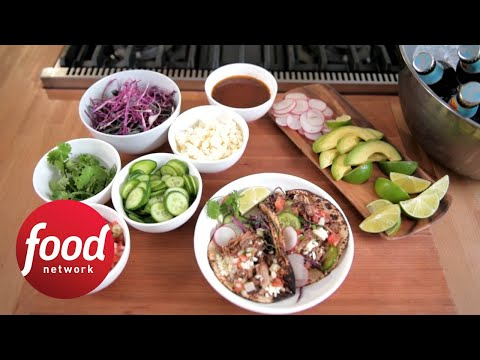 Spicy Slow-Cooked Country Rib Tacos | Food Network